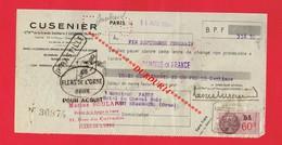 1 Lettre De Change & PARIS CUSENIER Distillerie  Alcool - Bills Of Exchange
