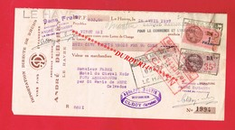 1 Lettre De Change & LE HAVRE A DUBARRY Rhum Alcool - Bills Of Exchange