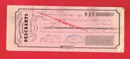 1 Lettre De Change & COUTANCES DESCHAMPS Rouennerie Draperie 1859 - Cambiali