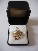 Individueller - Tri-Color-Metall Damenring Mit Herkimer Diamant (647) - Anelli