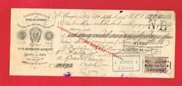 1 Lettre De Change & BEAUFAI Par AUBE Orne MENAGER AUMONT Chaussure Galoche 1896 - Cambiali