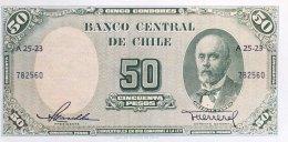 Chile 50 Pesos, P-121a - UNC - Chile