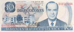Costa Rica 10 Colones, P-237b (7.4.1983) - UNC - Costa Rica