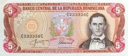Dominican Republic 5 Pesos Oro, P-118c (1987) - UNC - Dominikanische Rep.