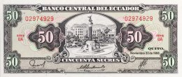 Ecuador 50 Sucres, P-122a (22.11.1988) - UNC - Ecuador
