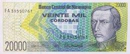 Nicaragua 20.000 Cordobas, P-160 (1989) - UNC - Nicaragua