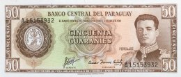 Paraguay 50 Guaranies, P-197b (L.1952) - UNC - Paraguay