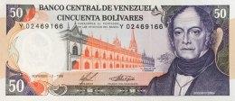 Venezuela 50 Bolivares, P-65b (3.11.1988) -  UNC - Venezuela