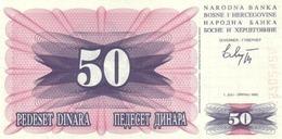 BOSNIA AND HERZEGOVINA 50 DINARA 1992 P-12 UNC  [BA115a] - Bosnia And Herzegovina