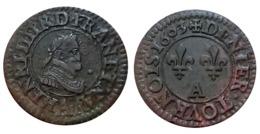 RARE!!! Denier Tournois HENRI IV 1603 A (Paris) TTB+++ A VOIR!!! - 987-1789 Monnaies Royales