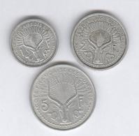 Lot 1 , 2 , 5 Francs Côte Française Des Somalis - TTB - Colonies