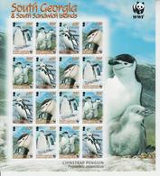 SOUTH GEORGIA SANDWICH ISLANDS 2008 WWF BIRD CHINSTRAP PENGUIN ANTARCTICA SHEETLET - Penguins