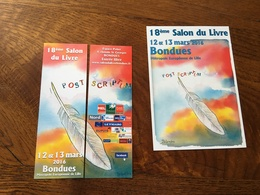 Marque Page Duo Salon Du Livre - Bookmarks