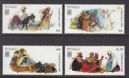 1998 Tuvalu Christmas Noel Complete Set Of 4 MNH - Tuvalu (fr. Elliceinseln)