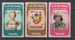 1982 Tuvalu Royal Baby Prince William !!! Complete Set Of 3 MNH - Tuvalu (fr. Elliceinseln)