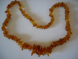 Bernstein-Halskette Im Verlauf (653) - Halsketten