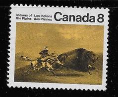 "CANADA 1972,used  # 562i : SHORT ""n' In Plains , PLAINS INDIANS - 1952-.... Règne D'Elizabeth II"