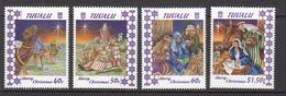 1996 Tuvalu Christmas Noel Complete Set Of 4 MNH - Tuvalu