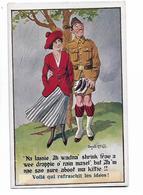 Scottish  Soldier   In  Kilt  &  Girlfriend  In  Rain   /  Soldat  Ecossé Qui Porte  Le  Kilt   Et  Copine   En  Averse - Mc Gill, Donald