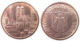 05265 GETTONE TOKEN JETON FICHA MUNCHENER GLUCKSPFENNIG - Allemagne