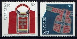 Schweden Sverige Sweden 1989 - Volkstrachten - MiNr 1537-1538 - Kostüme