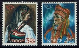 Norwegen Norge Norway 1989 - Volkstrachten - MiNr 1017-1018 - Kostüme
