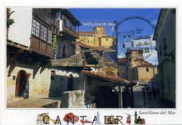 2016 España, Spain. Santillana Del Mar. Christian Church. Carta Máxima, Maximum Card. First Day Cancel - 1931-Aujourd'hui: II. République - ....Juan Carlos I