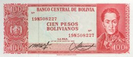 Bolivia 100 Bolivianos, P-164A (13.7.1962) - UNC - Bolivia