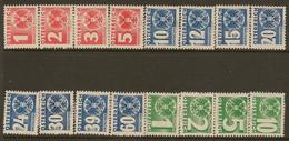 AUSTRIA 1935 Postage Due Set SG D746-61 HM #HP31 - Taxe