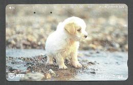 USED PHONECARD JAPAN DOG - Japan