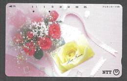 USED PHONECARD JAPAN FLOWERS - Japan