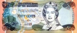 Bahamas 1/2 Dollar, P-68a (2001) - AU - Bahamas