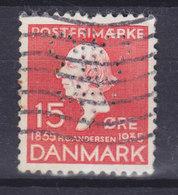 Denmark Perfin Perforé Lochung (A71) 'Logo' Alex Vincents Kunstforlag (Post Card Publisher) København H. C. Andersen - Abarten Und Kuriositäten