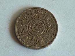 UK 2 Shillings 1959 - 1902-1971 : Monnaies Post-Victoriennes