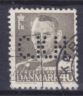 Denmark Perfin Perforé Lochung (C38) 'C.K.H.' C.K.Hansen, København King König Fr. IX. Stamp (2 Scans) - Abarten Und Kuriositäten