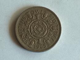 UK 2 Shillings 1965 - 1902-1971 : Monnaies Post-Victoriennes