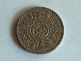 UK 2 Shillings 1967 - 1902-1971 : Monnaies Post-Victoriennes