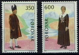 Färöer Foroyar Faroe Islands 1989 - Volkstrachten - MiNr 182-183 - Kostüme