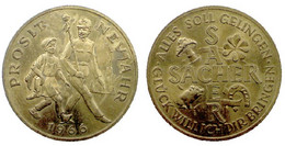 05269 GETTONE TOKEN JETON PROSIT NEU JAHR 1966 SACHER - Tokens & Medals