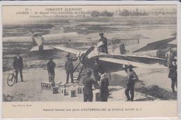 CPA 49 - ANGERS - CIRCUIT D'ANJOU - 1er Grand Prix Aviation - 16 Et 17 Juin 1912 - Hanriot Plein AUTOMOBILINE + HUILE TB - Angers