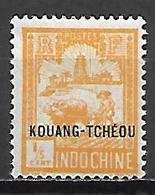 KOUANG - TCHEOU    -   1927.   Y&T N° 74 * - Unused Stamps