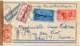 JOLIE LETTRE DE MARTINIQUE POUR PARIS EN MAI 1938 AVEC CENSURE MILITAIRE - Martinique (1886-1947)