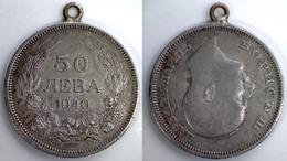 05270 MEDAGLIA MEDAL COIN BULGARIA 50 LEVA 1940 - Zonder Classificatie