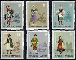 Malediven 1972 - Trachten Europäischer Länder - MiNr 395-400 - Kostüme