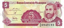 NICARAGUA 5 CENTAVOS ND (1990) P-168 NEUF PRÉFIXE A/D [NI462b] - Nicaragua