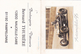 Calendrier Boulangerie Thubière Naucelle-Gare  Pampelonne Automobile 95 - Calendriers