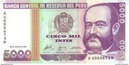 PÉROU 5000 INTIS 1988 P-137 NEUF  [PE137] - Peru