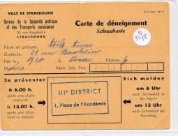 AC-B3378--67 - Strasbourg - Carte De Déneigement  (Précisions Sté, état... Voir Scans) - Maps