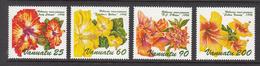 1995 Vanuatu Flowers Hibiscus Fleurs Complete Set Of 4  MNH - Vanuatu (1980-...)