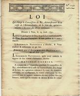 1791 REVOLUTION BIENS NATIONAUX ESTIMATION EVALUTION AFFICHAGE VENTE COMPTABILITE - Decrees & Laws